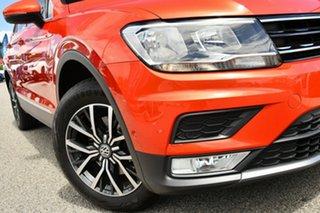 2017 Volkswagen Tiguan 5N MY17 110TDI DSG 4MOTION Comfortline Orange 7 Speed.