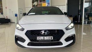 2020 Hyundai i30 CN7.V1 MY21 N Line D-CT Premium White 7 Speed Sports Automatic Dual Clutch Sedan.
