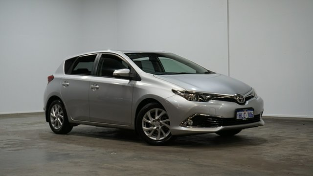 Used Toyota Corolla ZRE182R Ascent S-CVT Welshpool, 2016 Toyota Corolla ZRE182R Ascent S-CVT Silver 7 Speed Constant Variable Hatchback