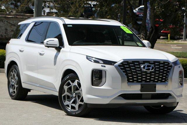 New Hyundai Palisade LX2.V2 MY22 Highlander AWD Moorooka, 2021 Hyundai Palisade LX2.V2 MY22 Highlander AWD White Cream 8 Speed Sports Automatic Wagon