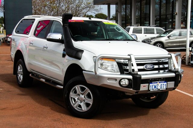 Used Ford Ranger PX XLT Double Cab Attadale, 2014 Ford Ranger PX XLT Double Cab White 6 Speed Sports Automatic Utility