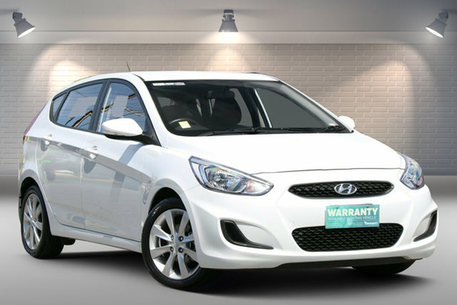Used Hyundai Accent RB6 MY19 Sport Gepps Cross, 2019 Hyundai Accent RB6 MY19 Sport White 6 Speed Sports Automatic Hatchback