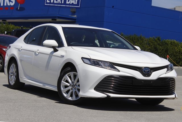 Used Toyota Camry AXVH71R Ascent Aspley, 2018 Toyota Camry AXVH71R Ascent White 6 Speed Constant Variable Sedan Hybrid