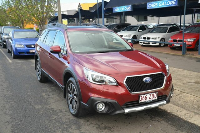 Used Subaru Outback MY16 2.5I Premium Toowoomba, 2016 Subaru Outback MY16 2.5I Premium Red Continuous Variable Wagon