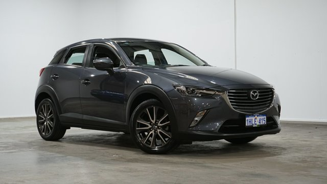 Used Mazda CX-3 DK2W7A sTouring SKYACTIV-Drive Welshpool, 2017 Mazda CX-3 DK2W7A sTouring SKYACTIV-Drive Grey 6 Speed Sports Automatic Wagon