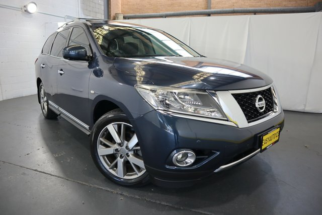 Used Nissan Pathfinder R52 MY15 Ti X-tronic 4WD Castle Hill, 2015 Nissan Pathfinder R52 MY15 Ti X-tronic 4WD Blue 1 Speed Constant Variable Wagon