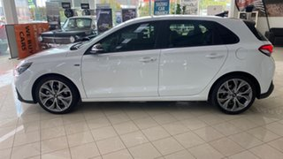 2020 Hyundai i30 CN7.V1 MY21 N Line D-CT Premium White 7 Speed Sports Automatic Dual Clutch Sedan