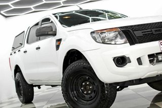 2011 Ford Ranger PX XL 2.2 (4x4) White 6 Speed Automatic Crew Cab Utility.