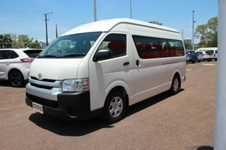 2018 Toyota HiAce KDH223R Commuter High Roof Super LWB French Vanilla 4 Speed Automatic.