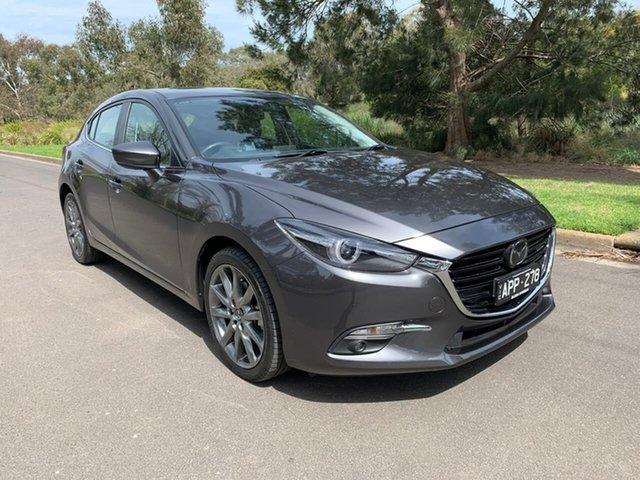 Used Mazda 3 SP25 Astina Geelong, 2017 Mazda 3 BN Series SP25 Astina Grey Sports Automatic Hatchback