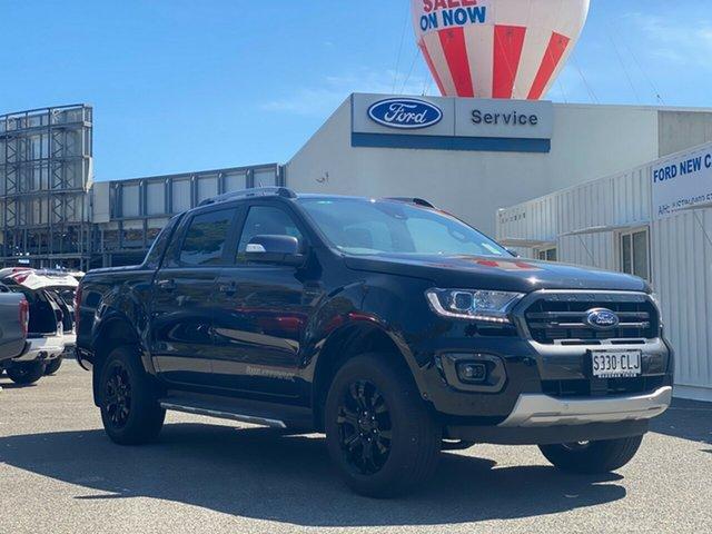 Demo Ford Ranger PX MkIII 2021.75MY Wildtrak Port Adelaide, 2021 Ford Ranger PX MkIII 2021.75MY Wildtrak Shadow Black 10 Speed Sports Automatic