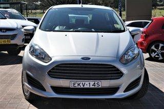 2014 Ford Fiesta WZ Ambiente PwrShift Silver 6 Speed Sports Automatic Dual Clutch Hatchback.