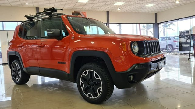 Pre-Owned Jeep Renegade BU MY16 Trailhawk AWD Wonthaggi, 2016 Jeep Renegade BU MY16 Trailhawk AWD Orange 9 Speed Sports Automatic Hatchback
