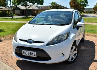 2009 Ford Fiesta WS CL White 4 Speed Automatic Hatchback.