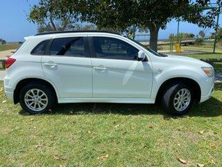 2011 Mitsubishi ASX XA MY11 2WD White 6 Speed Constant Variable Wagon.