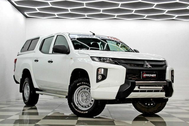 Used Mitsubishi Triton MR MY19 GLX ADAS Burleigh Heads, 2018 Mitsubishi Triton MR MY19 GLX ADAS White 6 Speed Automatic Double Cab Pick Up