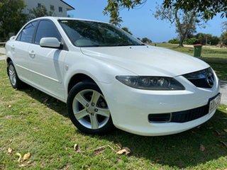 2006 Mazda 6 GG1032 Classic White 5 Speed Sports Automatic Sedan.