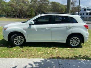 2011 Mitsubishi ASX XA MY11 2WD White 6 Speed Constant Variable Wagon