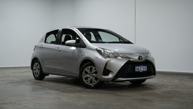 Used Toyota Yaris NCP130R Ascent Welshpool, 2017 Toyota Yaris NCP130R Ascent Silver 4 Speed Automatic Hatchback