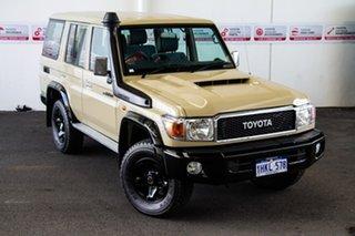 2021 Toyota Landcruiser VDJ76R GXL Sandy Taupe 5 Speed Manual Wagon.