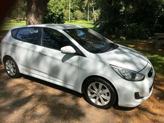 2019 Hyundai Accent RB6 MY19 Sport White 6 Speed Automatic Hatchback.