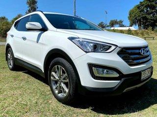 2012 Hyundai Santa Fe DM MY13 Elite Creamy White 6 Speed Sports Automatic Wagon.
