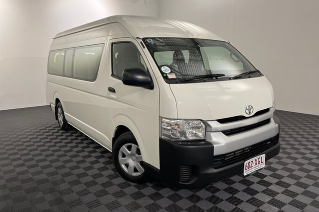 Used Toyota HiAce KDH223R MY14 Commuter High Roof Super LWB Acacia Ridge, 2014 Toyota HiAce KDH223R MY14 Commuter High Roof Super LWB French Vanilla 4 speed Automatic Bus