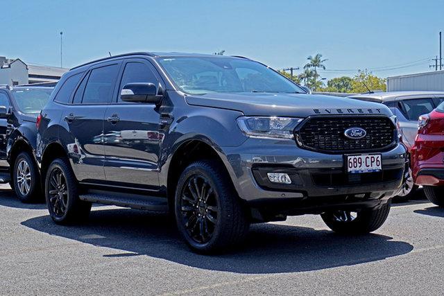 Used Ford Everest UA II 2020.25MY Sport Springwood, 2019 Ford Everest UA II 2020.25MY Sport Grey 10 Speed Sports Automatic SUV