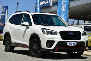 2020 Subaru Forester S5 MY21 2.5i Sport CVT AWD Crystal White 7 Speed Constant Variable Wagon.