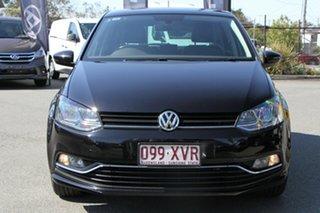 2017 Volkswagen Polo 6R MY17.5 81TSI DSG Urban+ Deep Black 7 Speed Sports Automatic Dual Clutch