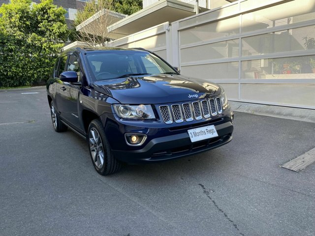 Used Jeep Compass MK MY15 Limited Zetland, 2015 Jeep Compass MK MY15 Limited Blue 6 Speed Sports Automatic Wagon