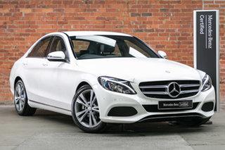 2016 Mercedes-Benz C-Class W205 806+056MY C200 7G-Tronic + White 7 Speed Sports Automatic Sedan.