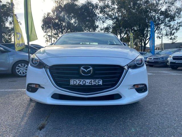 Used Mazda 3 BN5436 SP25 SKYACTIV-MT Astina Liverpool, 2018 Mazda 3 BN5436 SP25 SKYACTIV-MT Astina White 6 Speed Manual Hatchback