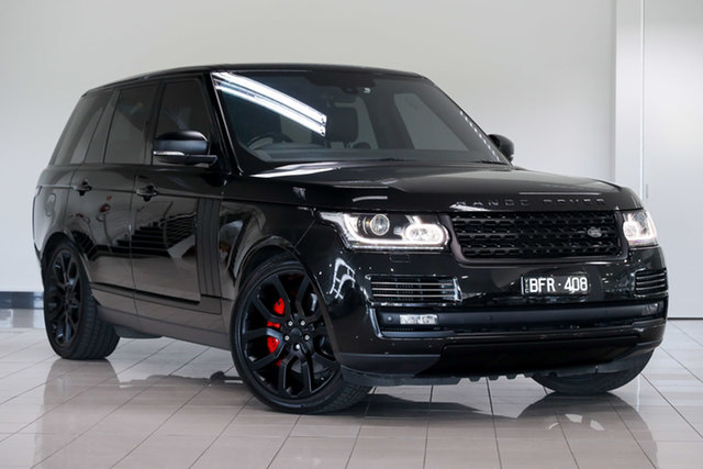 Used Land Rover Range Rover L405 14MY SDV8 Vogue , 2013 Land Rover Range Rover L405 14MY SDV8 Vogue Santorini Black 8 Speed Sports Automatic Wagon