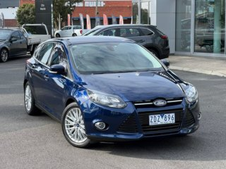 2012 Ford Focus LW Sport PwrShift Ink Blue 6 Speed Sports Automatic Dual Clutch Hatchback.