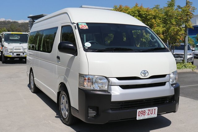 Used Toyota HiAce KDH223R MY14 Commuter High Roof Super LWB Robina, 2014 Toyota HiAce KDH223R MY14 Commuter High Roof Super LWB White 4 speed Automatic Bus
