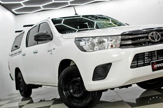 2016 Toyota Hilux GGN120R SR White 6 Speed Automatic Dual Cab Utility.