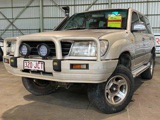 2001 Toyota Landcruiser FZJ105R GXL Gold 4 Speed Automatic Wagon.
