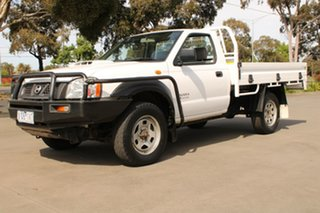 2010 Nissan Navara D22 MY08 DX (4x4) White 5 Speed Manual Cab Chassis