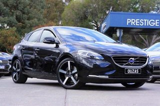 2014 Volvo V40 M Series MY14 D4 Adap Geartronic Luxury Black 6 Speed Sports Automatic Hatchback.