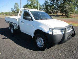 2012 Mitsubishi Triton MN MY12 GLX White 5 Speed Manual Utility.