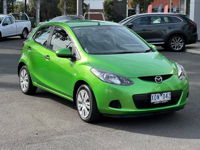 Used Mazda 2 DE10Y1 Neo South Melbourne, 2010 Mazda 2 DE10Y1 Neo Spirited Green 5 Speed Manual Hatchback