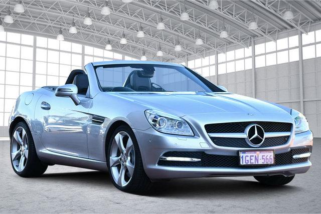 Used Mercedes-Benz SLK-Class R172 SLK350 BlueEFFICIENCY 7G-Tronic + Victoria Park, 2012 Mercedes-Benz SLK-Class R172 SLK350 BlueEFFICIENCY 7G-Tronic + Silver 7 Speed Sports Automatic