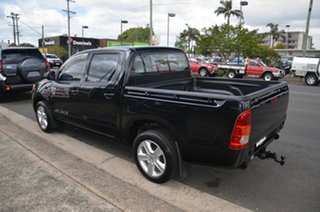 2007 Toyota Hilux TGN16R 06 Upgrade Workmate Black 5 Speed Manual Dual Cab Pick-up