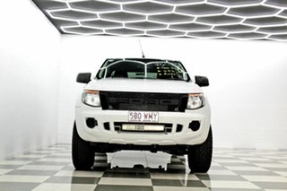 2011 Ford Ranger PX XL 2.2 (4x4) White 6 Speed Automatic Crew Cab Utility