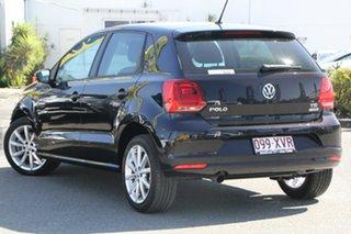2017 Volkswagen Polo 6R MY17.5 81TSI DSG Urban+ Deep Black 7 Speed Sports Automatic Dual Clutch.