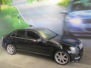 2012 Mercedes-Benz C-Class W204 MY12 C350 CDI BlueEFFICIENCY 7G-Tronic + Avantgarde Black 7 Speed.