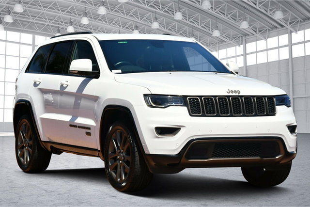 Used Jeep Grand Cherokee WK MY16 75th Anniversary Victoria Park, 2016 Jeep Grand Cherokee WK MY16 75th Anniversary White 8 Speed Sports Automatic Wagon
