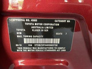 2019 Toyota Kluger GSU55R GX AWD Red 8 Speed Sports Automatic Wagon