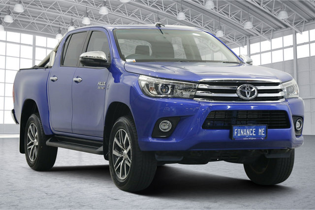 Used Toyota Hilux GUN126R SR5 Double Cab Victoria Park, 2017 Toyota Hilux GUN126R SR5 Double Cab Blue 6 Speed Sports Automatic Utility